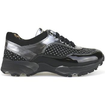 Παπούτσια Κορίτσι Χαμηλά Sneakers Nada sneakers nero camoscio grigio vernice strass AH189 Multicolore