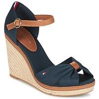 Παπούτσια Γυναίκα Σανδάλια / Πέδιλα Tommy Hilfiger ELENA 56D Marine / Brown