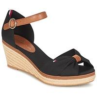 Παπούτσια Γυναίκα Σανδάλια / Πέδιλα Tommy Hilfiger ELBA 40D Black / Brown