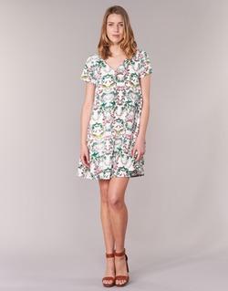 Υφασμάτινα Γυναίκα Κοντά Φορέματα Compania Fantastica EPINETA Άσπρο / Green / Ροζ