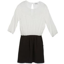 Υφασμάτινα Γυναίκα Κοντά Φορέματα Suncoo CELESTINE Black / Άσπρο