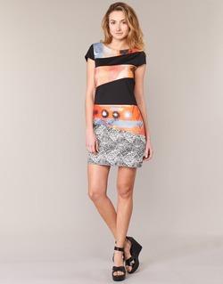 Υφασμάτινα Γυναίκα Κοντά Φορέματα Smash SERPENS Black / Orange / Grey