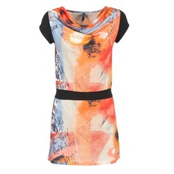 Υφασμάτινα Γυναίκα Κοντά Φορέματα Smash CITRON Orange / Black