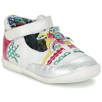 Παπούτσια Κορίτσι Μπαλαρίνες Catimini PANTHERE άσπρο / Argenté