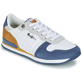 Παπούτσια Γυναίκα Χαμηλά Sneakers Pepe jeans GABLE ANGLAISE SOUL άσπρο / μπλέ / Grey