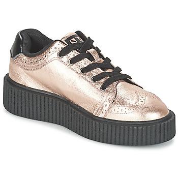 Παπούτσια Γυναίκα Χαμηλά Sneakers TUK CASBAH CREEPERS Ροζ / Μεταλικό