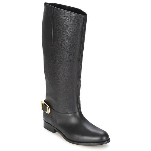 Παπούτσια Γυναίκα Μπότες για την πόλη Moschino Cheap & CHIC BUCKLE Black