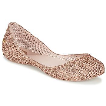Παπούτσια Γυναίκα Μπαλαρίνες Zaxy AMORA ροζ / Μεταλικό