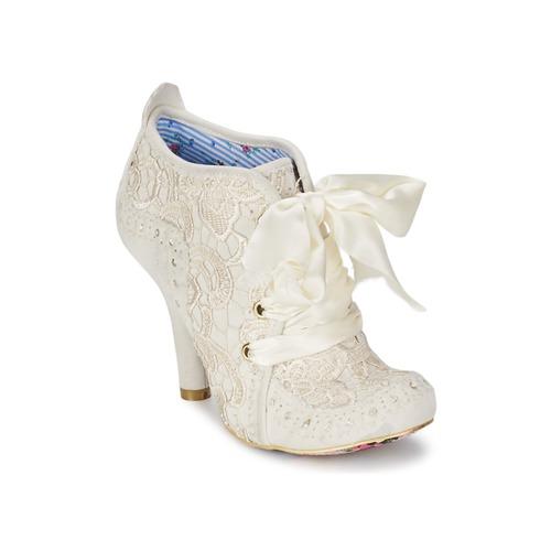 Παπούτσια Γυναίκα Χαμηλές Μπότες Irregular Choice ABIGAILS THIRD PARTY Άσπρο / Κρεμ