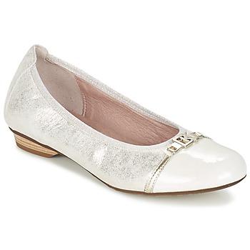 Παπούτσια Γυναίκα Μπαλαρίνες Dorking TELMA Argenté / Beige