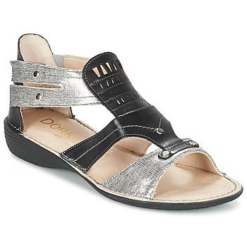 Παπούτσια Γυναίκα Σανδάλια / Πέδιλα Dorking ODA Black / Argenté
