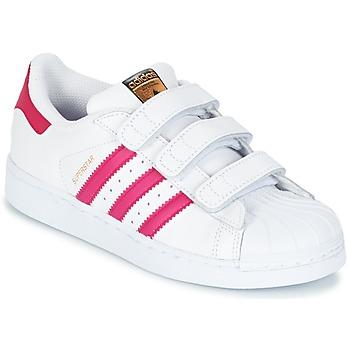 Παπούτσια Κορίτσι Χαμηλά Sneakers adidas Originals SUPERSTAR FOUNDATIO Άσπρο