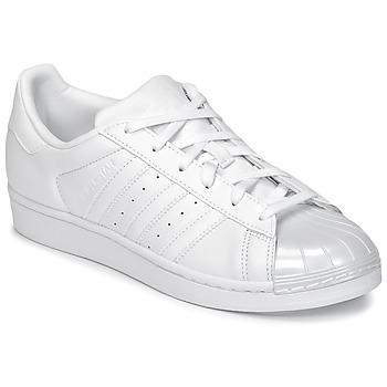 Παπούτσια Γυναίκα Χαμηλά Sneakers adidas Originals SUPERSTAR GLOSSY TO Άσπρο