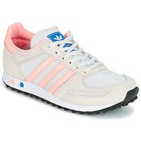Παπούτσια Παιδί Χαμηλά Sneakers adidas Originals LA TRAINER J Άσπρο / Ροζ