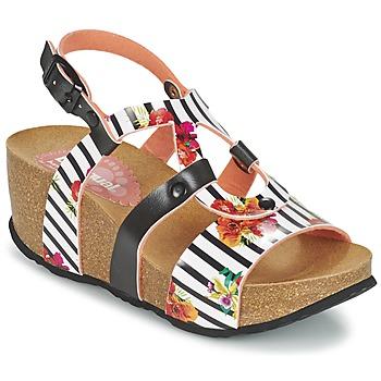 Παπούτσια Γυναίκα Σανδάλια / Πέδιλα Desigual BIO 9 FLORES Black / άσπρο / Fleuri