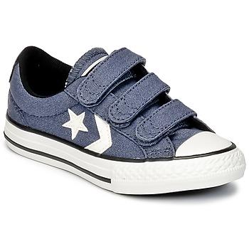 Παπούτσια Αγόρι Χαμηλά Sneakers Converse STAR PLAYER 3V VINTAGE CANVAS OX μπλέ / άσπρο