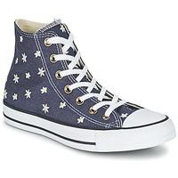 Παπούτσια Γυναίκα Ψηλά Sneakers Converse CHUCK TAYLOR ALL STAR DENIM FLORAL HI MARINE / Yellow / άσπρο