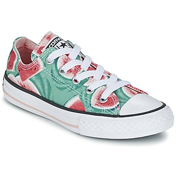 Παπούτσια Κορίτσι Χαμηλά Sneakers Converse CHUCK TAYLOR ALL STAR WATERMELON OX Green / Red / άσπρο