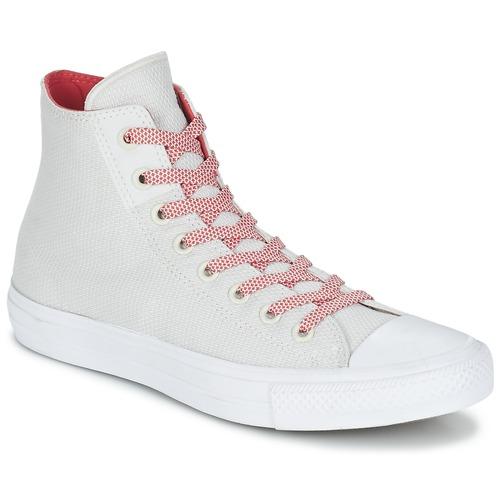 Παπούτσια Ψηλά Sneakers Converse CHUCK TAYLOR ALL STAR II BASKETWEAVE FUSE HI ECRU / άσπρο / Red