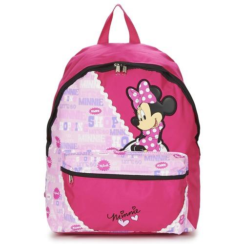 Τσάντες Κορίτσι Σακίδια πλάτης Disney MINNIE SCRATCH DOTS SAC A DOS BORNE ροζ