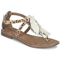 Παπούτσια Γυναίκα Σανδάλια / Πέδιλα Metamorf'Ose ZABOUCHE Brown / Άσπρο