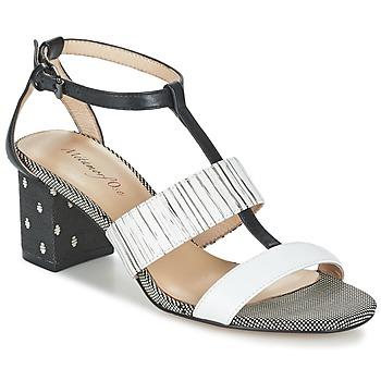 Παπούτσια Γυναίκα Σανδάλια / Πέδιλα Metamorf'Ose ZAFNOLO Black / άσπρο