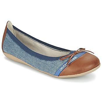 Παπούτσια Γυναίκα Μπαλαρίνες Les P'tites Bombes CAPRICE μπλέ / CAMEL