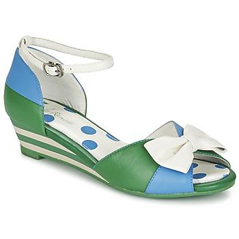 Παπούτσια Γυναίκα Σανδάλια / Πέδιλα Lola Ramona LENNIE Μπλέ / Green