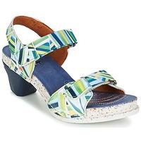 Παπούτσια Γυναίκα Σανδάλια / Πέδιλα Art I  ENJOY μπλέ / Green