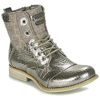 Παπούτσια Γυναίκα Μπότες Bunker SARA Silver