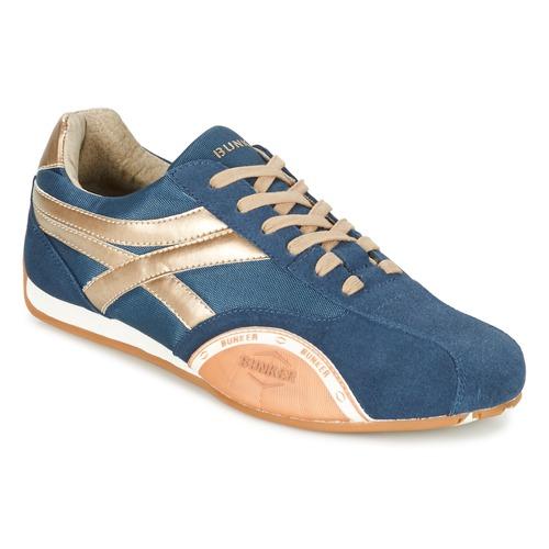 Παπούτσια Άνδρας Χαμηλά Sneakers Bunker LEMANS MARINE / Gold / Orange
