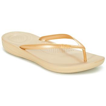 Παπούτσια Γυναίκα Σαγιονάρες FitFlop IQUSHION ERGONOMIC FLIP-FLOPS Gold
