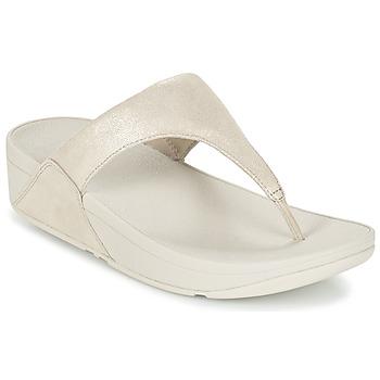 Παπούτσια Γυναίκα Σαγιονάρες FitFlop SHIMMY SUEDE TOE-POST Gold
