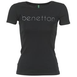 Υφασμάτινα Γυναίκα T-shirt με κοντά μανίκια Benetton AJAVOL Black