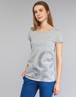 Υφασμάτινα Γυναίκα T-shirt με κοντά μανίκια Benetton MADOUL Grey