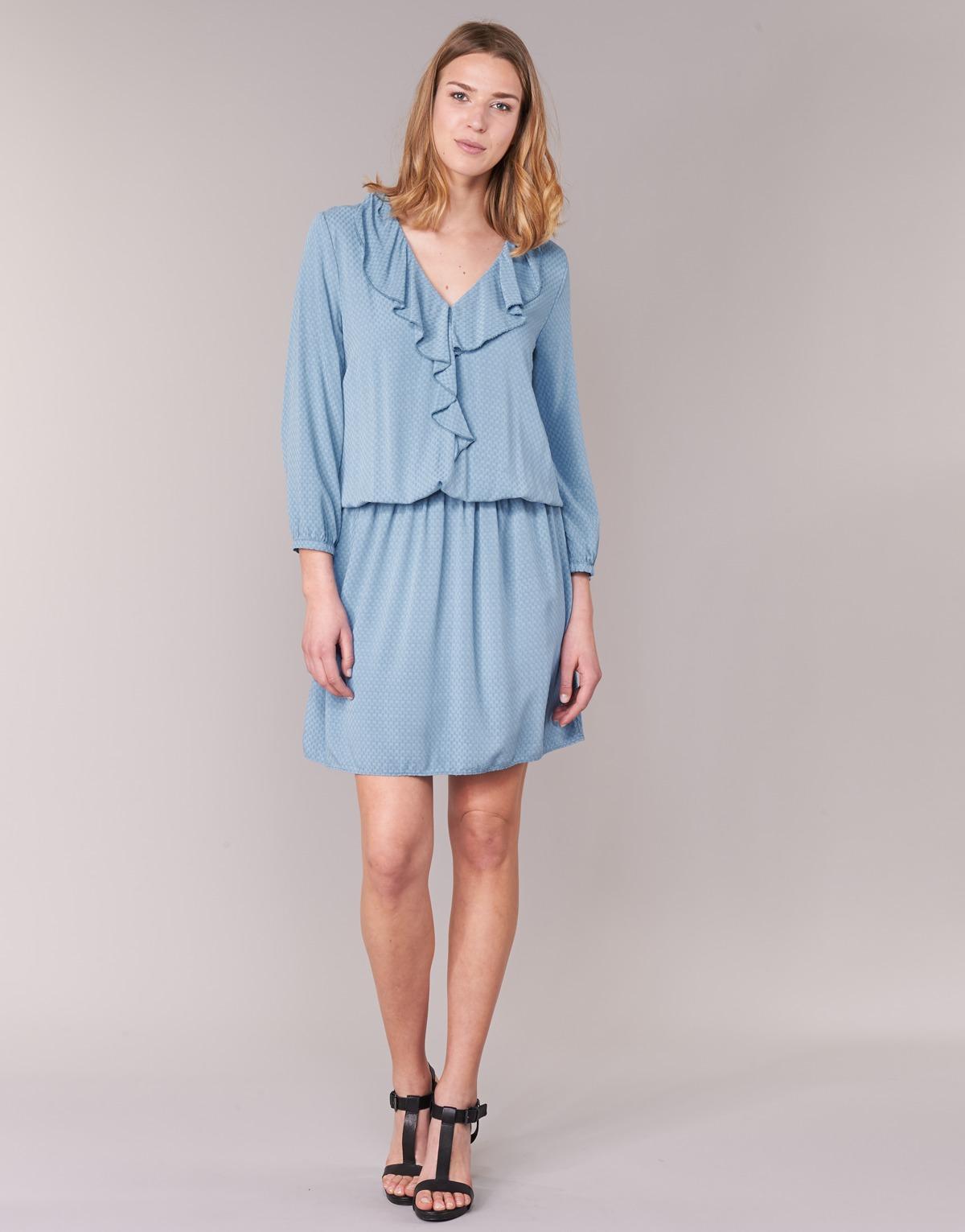 Κοντά Φορέματα Benetton AFIDOUL Σύνθεση  Βισκόζη 6cf40d4fbc5