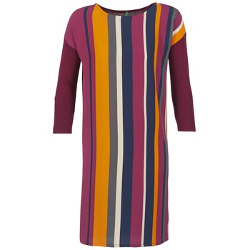 Υφασμάτινα Γυναίκα Κοντά Φορέματα Benetton VAGODA BORDEAUX / Multicolore