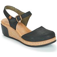 Παπούτσια Γυναίκα Σανδάλια / Πέδιλα El Naturalista LEAVES Black