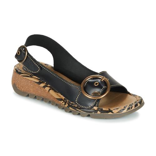 Παπούτσια Γυναίκα Σανδάλια / Πέδιλα Fly London TRAMFLY Black