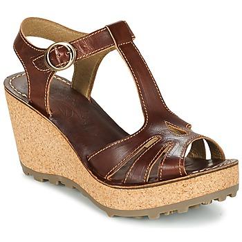 Παπούτσια Γυναίκα Σανδάλια / Πέδιλα Fly London GOLDY Brown
