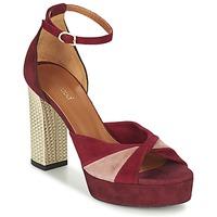 Παπούτσια Γυναίκα Σανδάλια / Πέδιλα Heyraud EVELINE Red / Ροζ / Gold