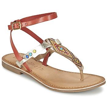 Παπούτσια Γυναίκα Σανδάλια / Πέδιλα Lola Espeleta ELODIE Red / Silver