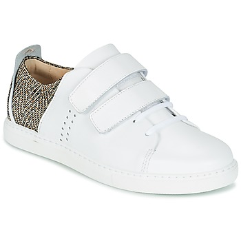 Παπούτσια Γυναίκα Χαμηλά Sneakers M. Moustache RENEE Άσπρο / Jacquard