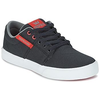 Παπούτσια Παιδί Χαμηλά Sneakers Supra KIDS STACKS II VULC Black / Red