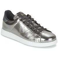 Παπούτσια Γυναίκα Χαμηλά Sneakers Victoria DEPORTIVO BASKET METALLISE Silver