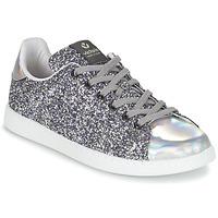Παπούτσια Γυναίκα Χαμηλά Sneakers Victoria DEPORTIVO BASKET GLITTER Silver