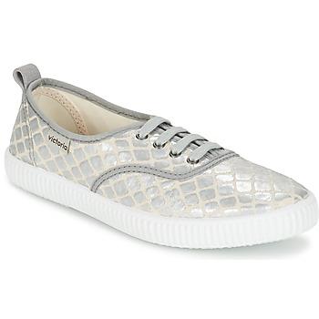 Παπούτσια Γυναίκα Χαμηλά Sneakers Victoria INGLES TEJ PLACA SERPIENTE Silver