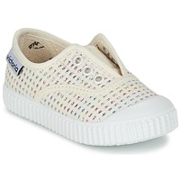 Παπούτσια Κορίτσι Χαμηλά Sneakers Victoria INGLESA LUREX ELASTICO Beige