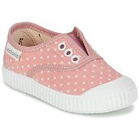 Παπούτσια Κορίτσι Χαμηλά Sneakers Victoria INGLESA LUNARES ELASTICO ροζ / άσπρο