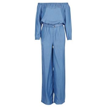 Υφασμάτινα Γυναίκα Ολόσωμες φόρμες / σαλοπέτες MICHAEL Michael Kors TENCEL OFF SHDR JUMPSUIT μπλέ